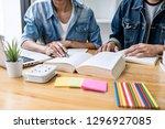 high school tutor or college... | Shutterstock . vector #1296927085