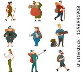 tourists people characters for... | Shutterstock .eps vector #1296941908