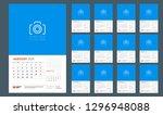 wall calendar planner template... | Shutterstock .eps vector #1296948088
