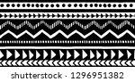 vector seamless black and white ... | Shutterstock .eps vector #1296951382