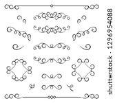 vintage calligraphic flourishes ... | Shutterstock .eps vector #1296954088