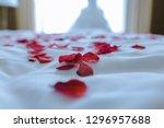 wedding for honeymoon sweet... | Shutterstock . vector #1296957688