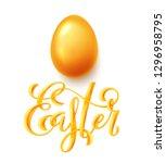 happy easter poster | Shutterstock . vector #1296958795