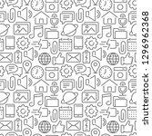 mobile interface seamless... | Shutterstock .eps vector #1296962368