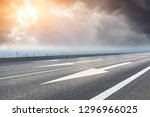 empty asphalt road and modern... | Shutterstock . vector #1296966025