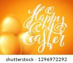 happy easter poster | Shutterstock . vector #1296972292