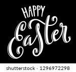 happy easter poster | Shutterstock . vector #1296972298