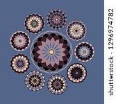 set of circular rosettes in...   Shutterstock .eps vector #1296974782