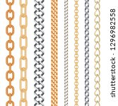 golden and silver seamless... | Shutterstock .eps vector #1296982558