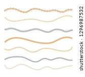 golden and silver chain set... | Shutterstock .eps vector #1296987532