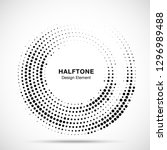 halftone circle dotted frame... | Shutterstock .eps vector #1296989488