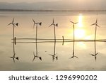 beautiful sunset near the river | Shutterstock . vector #1296990202