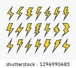 set of lightning vector icons... | Shutterstock .eps vector #1296990685