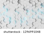 white and blue abstract... | Shutterstock . vector #1296991048