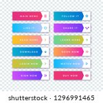 vector button set modern... | Shutterstock .eps vector #1296991465