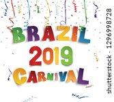 brazil carnival 2019 background ... | Shutterstock .eps vector #1296998728