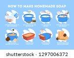 handmade soap instruction for...   Shutterstock .eps vector #1297006372