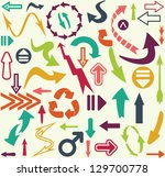 arrows seamless pattern | Shutterstock .eps vector #129700778