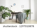 green tropical plants in... | Shutterstock . vector #1297010878