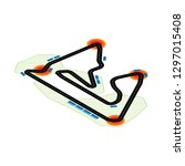 isometric speed race track with ... | Shutterstock .eps vector #1297015408
