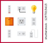 9 switch icon. vector... | Shutterstock .eps vector #1297015615
