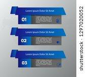 modern blue infographics 3... | Shutterstock .eps vector #1297020052