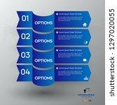 modern blue infographics 4... | Shutterstock .eps vector #1297020055