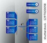 blue modern infographic vector... | Shutterstock .eps vector #1297020058