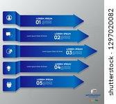 modern blue infographics 5... | Shutterstock .eps vector #1297020082