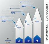 modern blue infographics 3... | Shutterstock .eps vector #1297020085