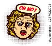 pop art vintage comic book... | Shutterstock .eps vector #1297022728
