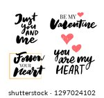 valentine's day set of symbols... | Shutterstock .eps vector #1297024102