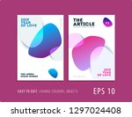 design of brochure smooth soft... | Shutterstock .eps vector #1297024408