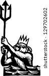 vector illustration of poseidon | Shutterstock .eps vector #129702602