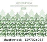 green spruce landscape.... | Shutterstock .eps vector #1297026085