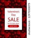 valentines day vertical sale... | Shutterstock .eps vector #1297033075