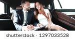 beautiful business woman... | Shutterstock . vector #1297033528