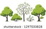 collection of green vector... | Shutterstock .eps vector #1297033828