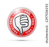 fail thumbs down icon | Shutterstock .eps vector #1297036192
