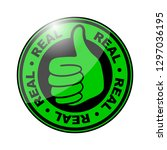 thumbs up icon | Shutterstock .eps vector #1297036195