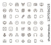 message icon set. collection of ...   Shutterstock .eps vector #1297036225