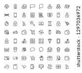 e shopping flat icon set .... | Shutterstock .eps vector #1297036972