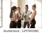 toned multiracial female... | Shutterstock . vector #1297041082