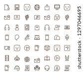message icon set. collection of ... | Shutterstock .eps vector #1297046695