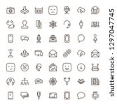 message icon set. collection of ... | Shutterstock .eps vector #1297047745