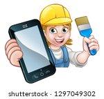 a painter decorator or handyman ... | Shutterstock .eps vector #1297049302