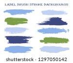 funky label brush stroke... | Shutterstock .eps vector #1297050142