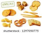 croutons crackers pretzels... | Shutterstock .eps vector #1297050775