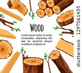 poster of firewood materials... | Shutterstock .eps vector #1297061455