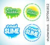 slime logotype templates set.... | Shutterstock .eps vector #1297061812